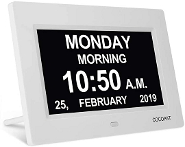 Digital Calendar Alarm Day Clock - With 9