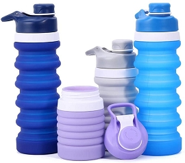 Collapsible Water Bottle - BPA Free - for Hot and Cold Drink (25oz) - Upcoming