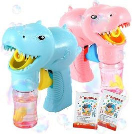 2-pack Dinosaur Bubble Guns - Retail Box Packaging *SEE NOTE*