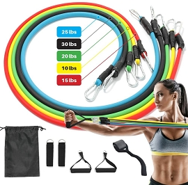 Resistance Bands Set (5pc) with Handles & Storage Bag **Upcoming Product**