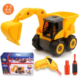 Take Apart Construction Vehicle Toy with Electric Drill - Retail Packaging