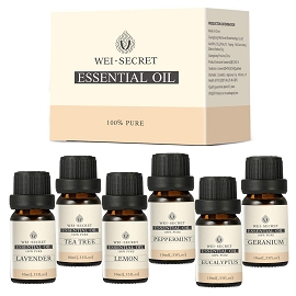 Organic Aromatherapy Essential Oil 6 Bottles Set