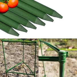 Tomato Cage Garden Stakes - 6 Plant Support