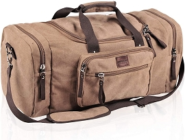 Overnight Handbag Shoulder Canvas Weekender Duffel Bag (Sand & Blue Color) **Upcoming Product**
