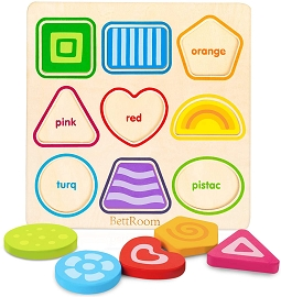 Wooden Colorful Shape Puzzle