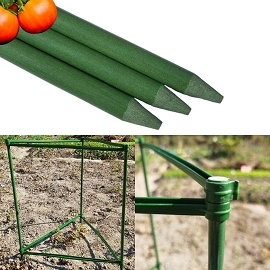Tomato Cage Garden Stakes - 3 Plant Support