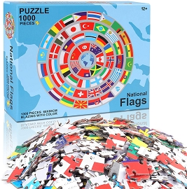 1000 pc National Flags Large Puzzle