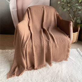 Knitted Throw Blanket - Assorted Color
