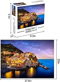 "1000 Piece Jigsaw Puzzle - Retail Box Packaging - (Manarola Italy) Size 27.56"" x 19.66"""