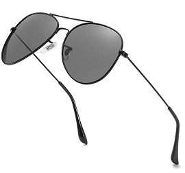 Polarized Aviator Sunglasses - Assorted Colors (HX)