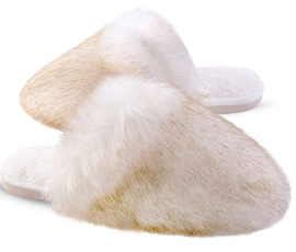 Womens Furry Slippers - Assorted Colors