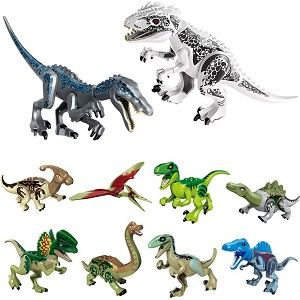 10pcs Building Block Dino Toy Set