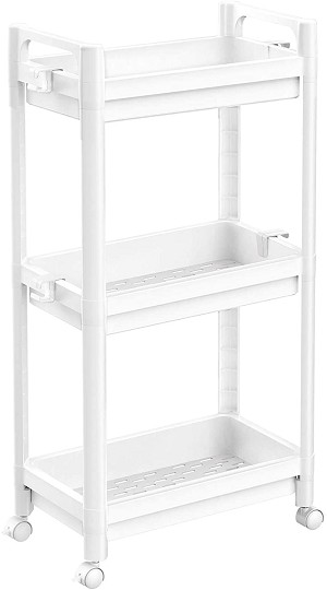 3-Tier Storage Cart - White & Black Available