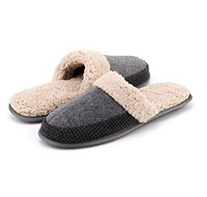 Men's Woolen Fabric Slippers - Assorted Style (Earth Tones)