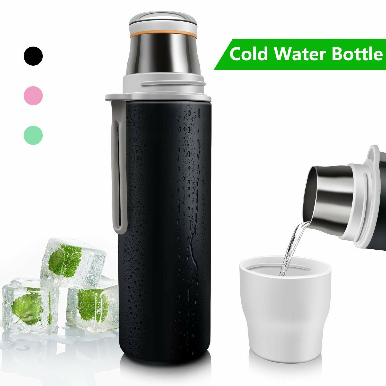 Double Insulated Water Bottle - Black
